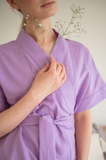 Кимоно с коротким рукавом и поясом Дайна, фиолетовый
