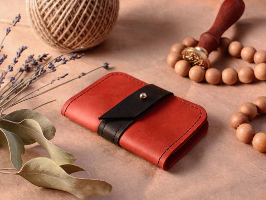 Картхолдер -TINY- карманный кошелек для карт Красный