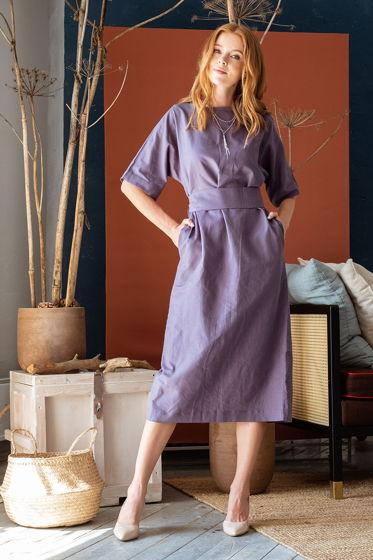 Платье прямое длины миди Амалия, цвет графит
