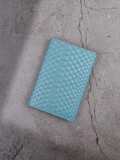 """Обложка для паспорта """"Verona"""" Питон Голубой"""