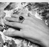 Серебряное кольцо с искусственной жемчужиной