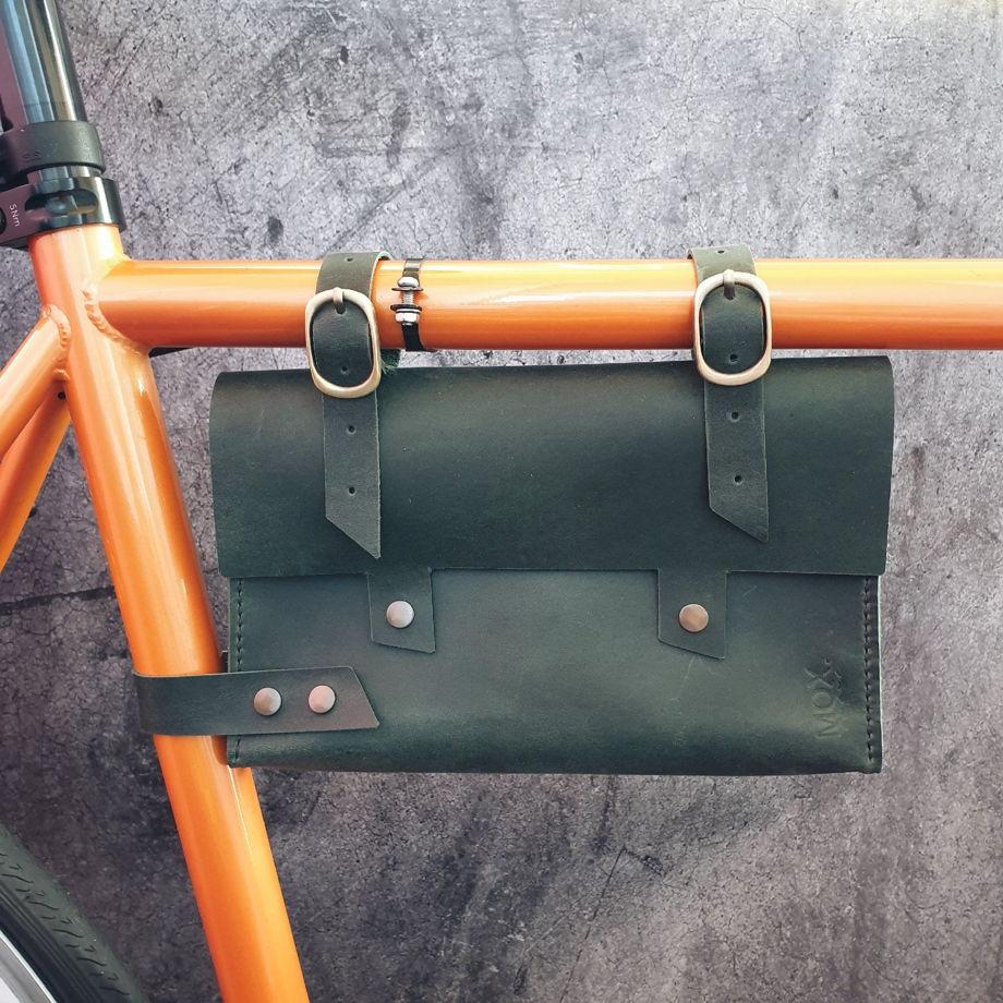 Велосумка из кожи Toucan Green
