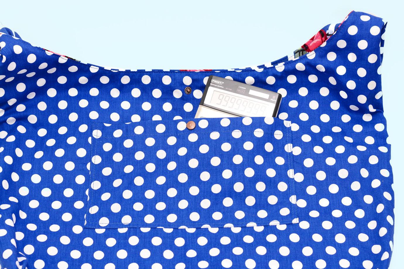 Сумка мешок джинсовая полосатая