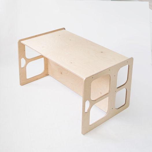Деревянный стол-скамья трансформер Монтессори Kiddy's, цвет натуральное дерево