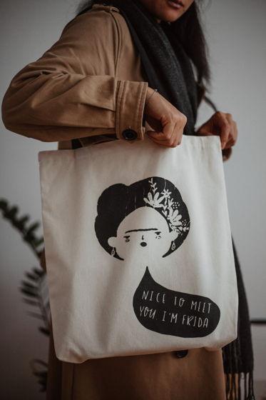 "Авося ""фрида"". Тканевая сумка - шоппер."