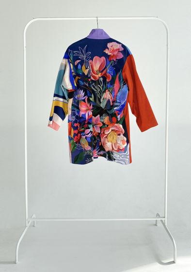 """Короткое кимоно из мягкого хлопка с принтом """"Botanica"""""""