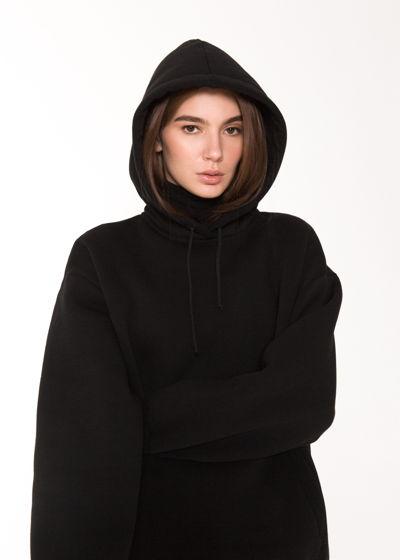 Кофта с капюшоном / цвет: черный