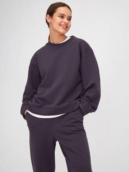 Костюм-двойка свободного кроя: свитшот и брюки джоггеры