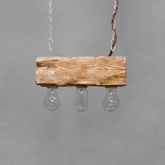 Подвесной светильник из дерева Cube_03 Дуб