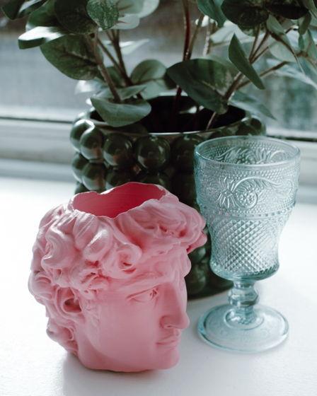 Кашпо Давид нежно-розовый