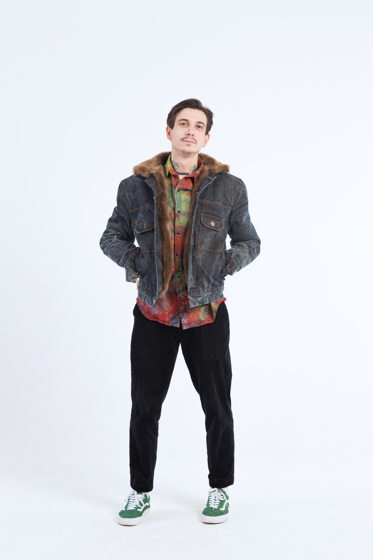 Джинсовая зимняя куртка  с искусственным мехом aka Plush Bear