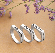 Серебряное кольцо «Ботаника»