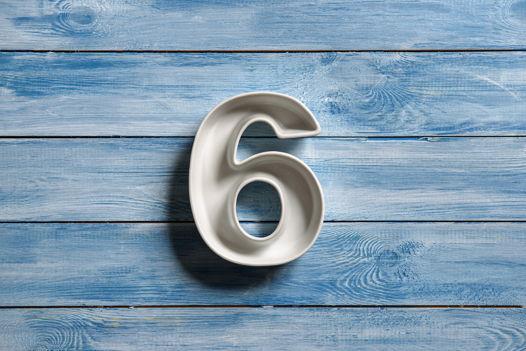 Керамическая цифра 6 (шесть)