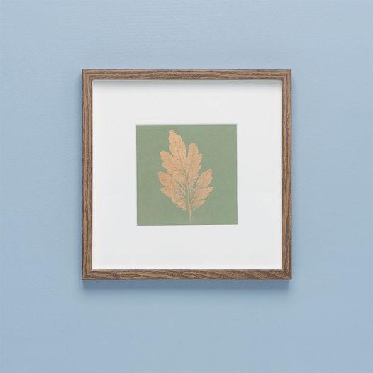 Картина с оттиском листа хризантемы