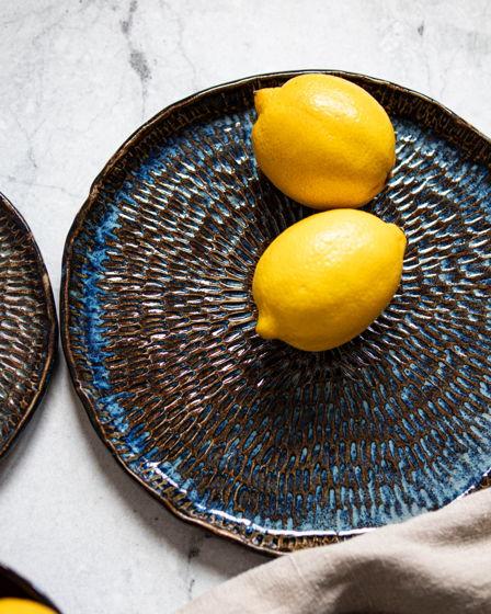 Набор керамических тарелок Space blue