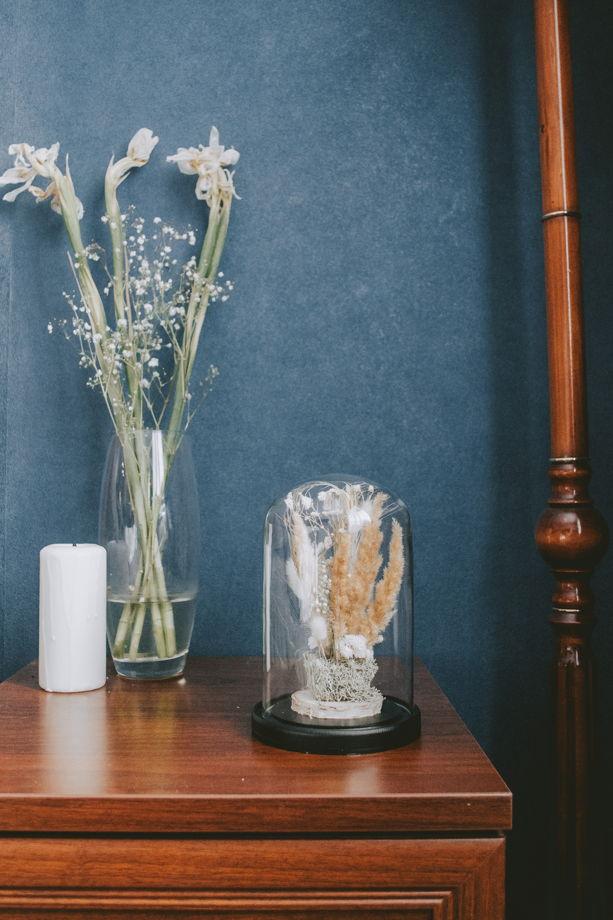 """Клош с сухоцветами ручной работы """"Куала-Лумпур"""""""