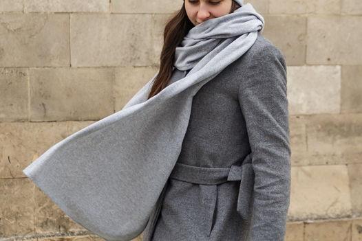 Шерстяной шарф Friend Function Серый меланж