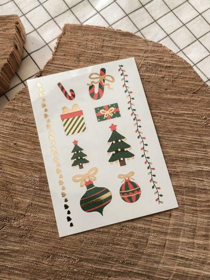 """Временные переводные татуировки MimiToo """"Рождество золото"""" для детей и взрослых"""