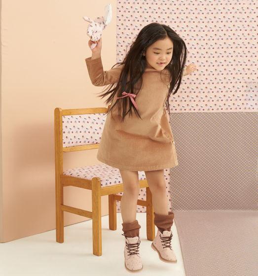 Вельветовое платье песочного цвета AMY SAND