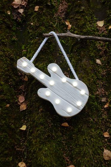 ГИТАРА  — Авторский светильник, ночник из дерева ручной работы