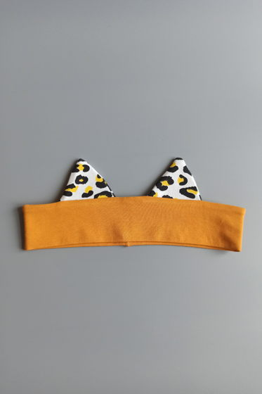 повязка на голову с ушками для девочки