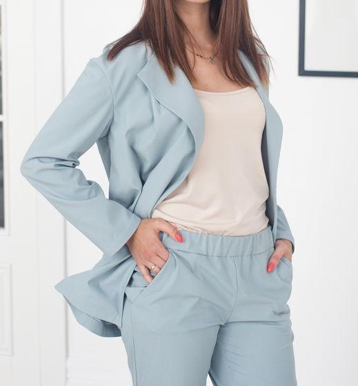 Летний голубой костюм Bueno из натуральной ткани, арт.00160