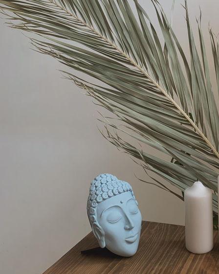 Настенный-настольный голубой Будда декор 2в1
