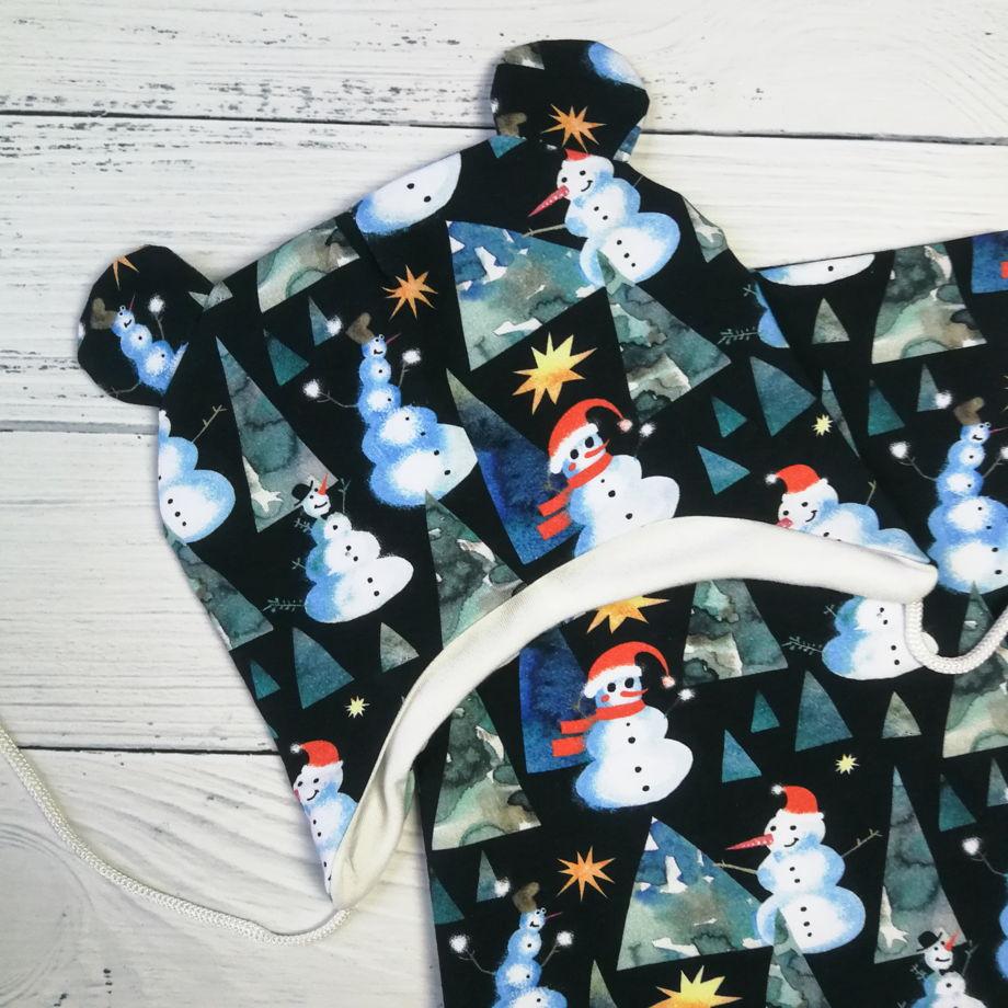 Шапка детская со снудом (комплект ниндзя)