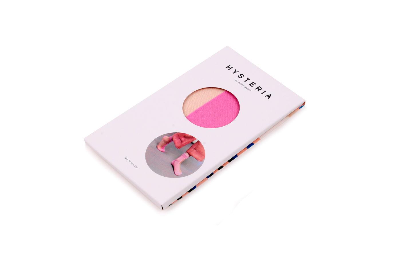Носки для девушек Hysteria Filippa Nylon Ankle - Beige/Pink