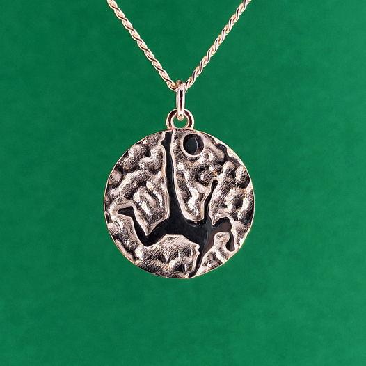 Серебряная подвеска Медаль для футболистки