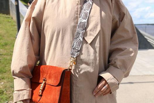 Сменный ремень для сумки «коричневая змея»