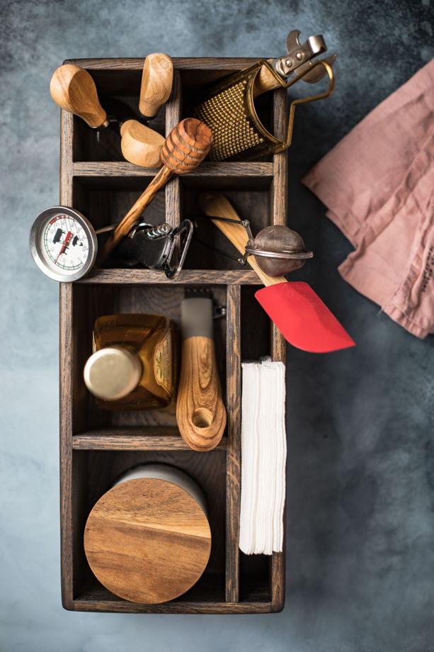 Подставка для салфеток и кухонных мелочей темная