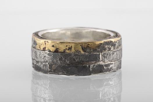 Тройное кольцо с латунным сегментом