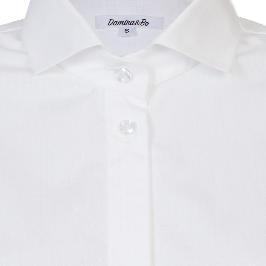 "Белая женская рубашка ""White square"""