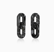 Серьги из переработанного пластика Chain Chain. Белый/Черный мрамор. Recycle.object