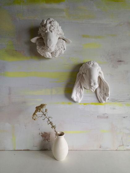 """Настенная скульптура для интерьера """"Белокурая овечка"""""""