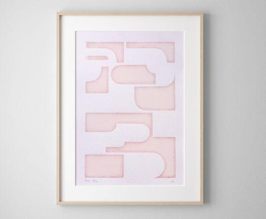 «Абстрактная композиция» / Шелкография, тираж 25 экз