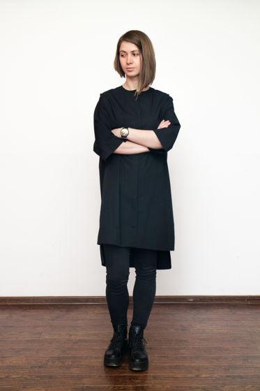 Платье рубашка чёрное