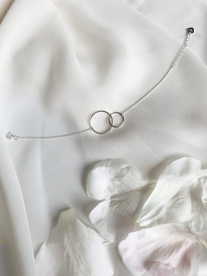Серебряный браслет с кольцами «Гармония»