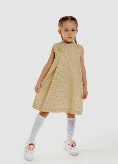 Платье со складками ЖЮЛИ (хлопок, размер 116-122)