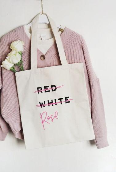 "Шоппер с карманом ""Red, White, Rose"""