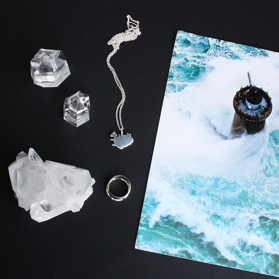 Серебряная подвеска Iceland