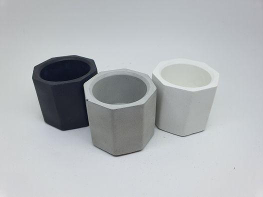 Подсвечник окта для чайной свечи из бетона