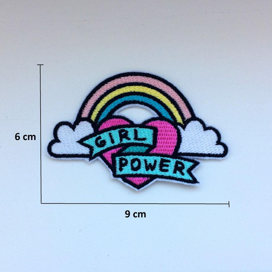 "Термоклеевая нашивка ""girl power"""