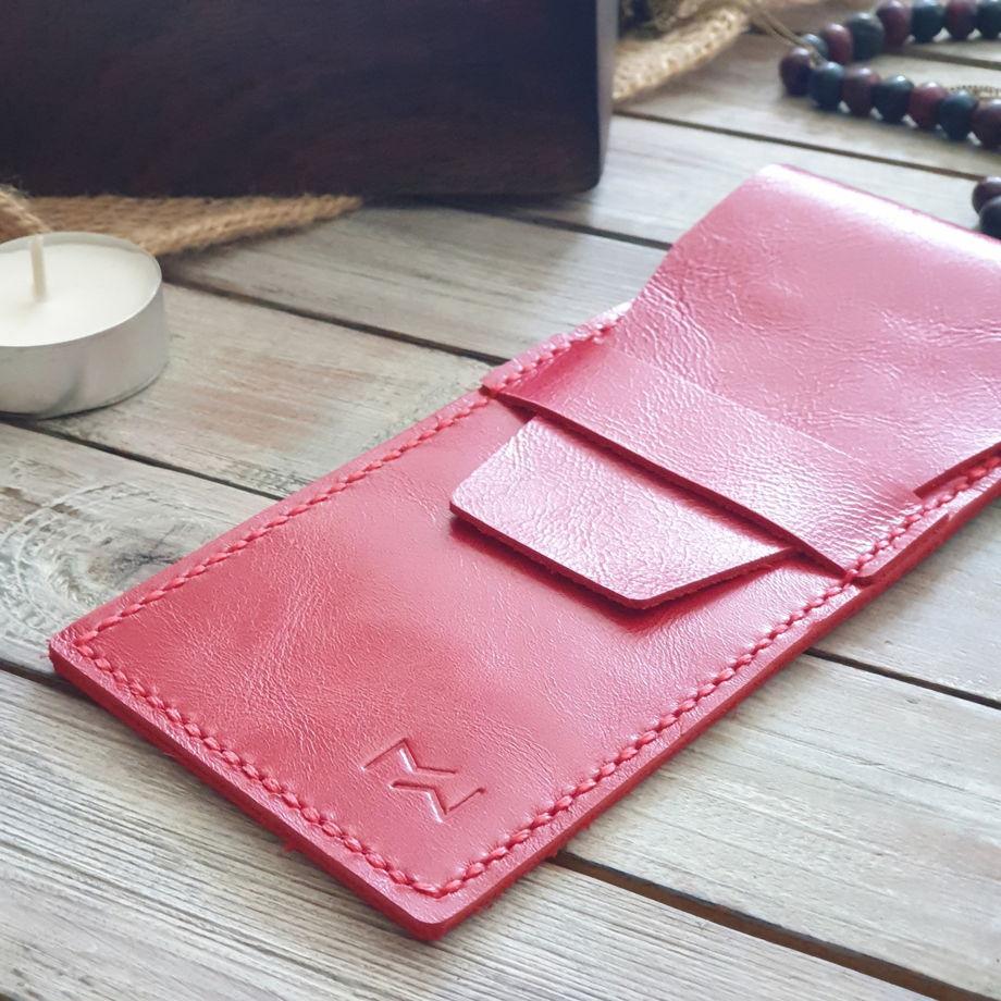 Кожаный пенал Cone Red