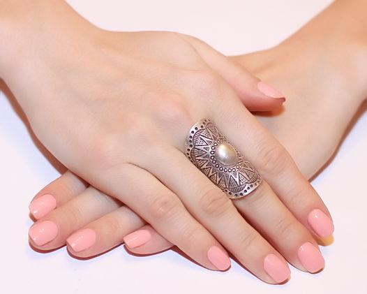 Кольцо длинное «Солнце Ацтеков» из серебра