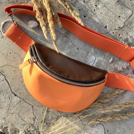 Женская поясная сумка MARISTO ручной работы из итальянской эко-кожи