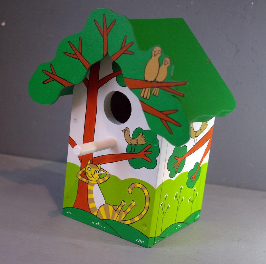 """Деревянный набор для сборки скворечника """"Рыжий кот""""."""