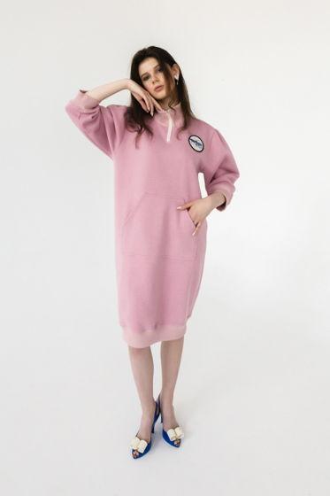 Объемное платье-свитшот с вышивкой