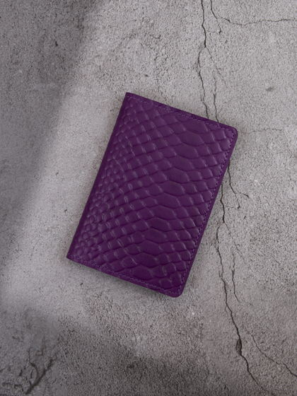 """Обложка для паспорта """"Verona"""" Питон Фиолетовый"""
